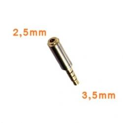 3,5mm naar 2,5mm headset plug converter voor o.a. de iPhone en Galaxy Samsung serie