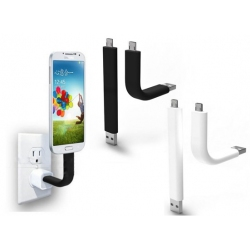 Handige flexibele en buigbare USB naar MicroUSB oplaad kabel