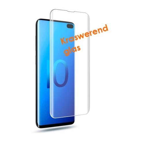 Krasbestendige screenprotector met ronden hoeken van glas voor de Samsung Galaxy S10