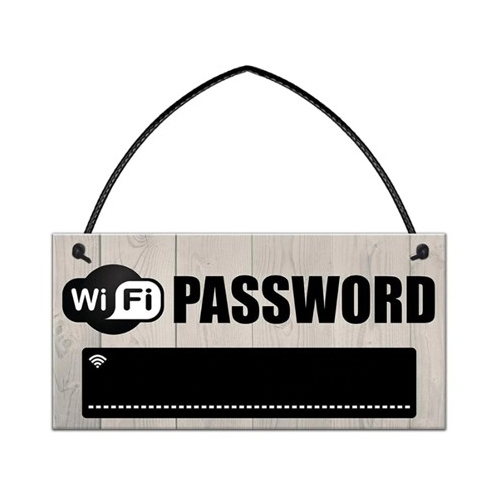 WiFi wachtwoord bordje voor in huis