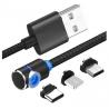 Oplaad kabel met magnetisch opzetstukje voor Micro USB, USB-C of iPhone