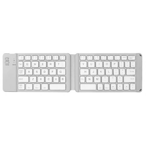 Zilver kleurige opvouwbaar bluetooth toetsenbord