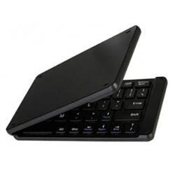 Zwart draadloos opvouwbaar QWERTY keyboard