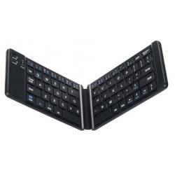 Draadloos zwart opvouwbaar bluetooth toetsenbord