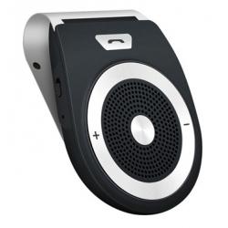 Bluetooth handsfree receiver voor aan de zonneklep in het zwart