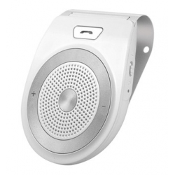 Bluetooth handsfree carkit voor aan de zonneklep in het wit