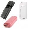 Powerbank voor twee AA batterijen om de mobiele telefoon op te laden