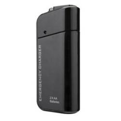 Zwarte AA powerbank voor het opladen van de smartphone