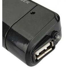 Powerbank met USB aansluiting voor de kabel