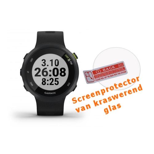 Screenprotector van kraswerend glas voor de Garmin Forerunner 45
