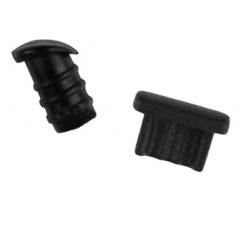 Zwarte set stofkapjes speciaal voor de iPhone 11, X, Xr, 8, 7, 6, Plus Zwart