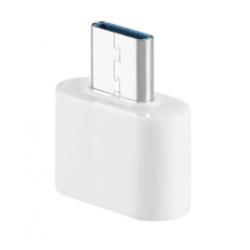 Female USB naar USB-C adapter converter plug wit