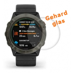 Screenprotector van krasbestendig glas voor de Garmin Fenix 6X 42mm