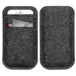 Hoesje voor 4.7 en 5.5 inch smartphone met vakje voor de bank pas