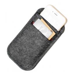 Hoesje voor de smartphone met pinpas vakje in de kleur zwart
