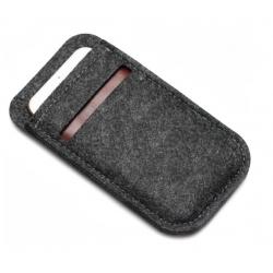 Zacht hoesje met pinpas vak voor de smartphone in het zwart