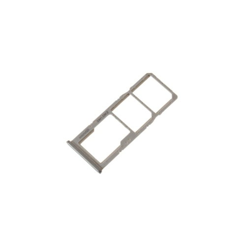 Zilver Wit Sim tray houder simkaart voor de Samsung Galaxy A30 of A50
