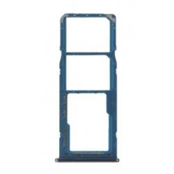SIMkaart tray houder adapter voor de zijkant sim Blauw voor de Samsung Galaxy A30 of A50