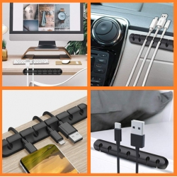 Kabel goed opbergen en hangen niet in de knoop op het bureau