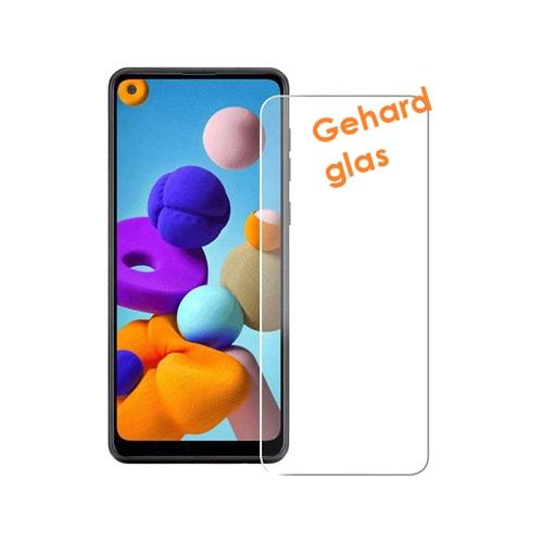 Screen protector van kraswerend gehard glas voor de Samsung Galaxy A21s
