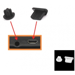 Beschermings kapjes voor de headset en USB ingang voor vele smartphones