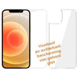 Voorkant front en achterkant back screen protector van gehard glas voor iPhone 12 Mini