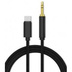 USB-C kabel naar 3.5mm aux hoofdtelefoon of koptelefoon aansluiting