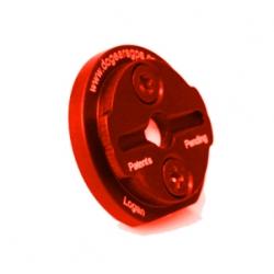 Rode Dog Ears Garmin Edge GPS mount rood houder afgebroken
