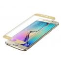 Goud kleurige scherm bescherming van gehard glas voor de Samsung Galaxy S6 Edge