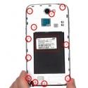 Schroefjes voor de binnenkant van de Samsung Note 2