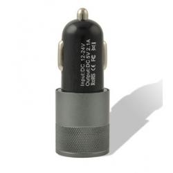 Zwart 12 Volt autolader met dubbele USB aansluiting
