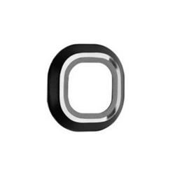 Zwarte Beschermings ring om de camera te beschermen van Samsung Galaxy S6 en S6 Edge