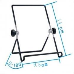 Specificaties en afmetingen van de inklapbare houder voor op het bureau of tafel voor smartphones of tablets