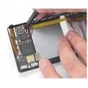 Handige nylon tool om de behuizing van de smartphone of tablet mee open te maken