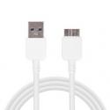 Witte USB 3 kabel voor de Samsung Galaxy S5, Note 3