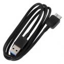 Zwarte USB 3 kabel voor de Samsung Galaxy S5 en Galaxy Note 3