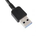 Zwarte USB kabel om de Samsung Galaxy S5 en Galaxy Note3 te synchroniseren