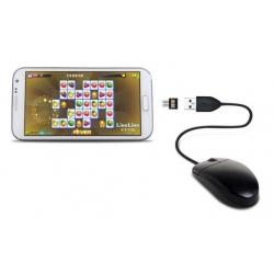Converter adapter voor een USB muis naar Micro USB aansluiting, een handig OTG  plugje