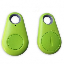 Groene handige GPS bluetooth traceerbare sleutelhanger voor aan de koffer, tas om de auto terug vinden groen
