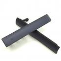 Afdek klepjes en stofkapjes voor de Sony Xperia Z3, set van twee stuks, in de kleur zwart