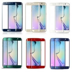 In ZEVEN kleuren: Gebogen 9H glazen screenprotector voor de Samsung Galaxy S6 Edge