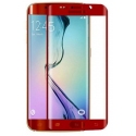 Rode voorgevormde harde 9H glazen screenprotector voor de Samsung Galaxy S6 Edge