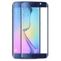 Blauwe voorgevormde harde 9H glazen screenprotector voor de Samsung Galaxy S6 Edge