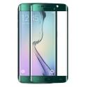 Groene voorgevormde harde 9H glazen screenprotector voor de Samsung Galaxy S6 Edge