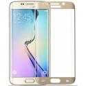Goudkleurige scherm bescherming van gehard glas voor de Samsung Galaxy S6 Edge
