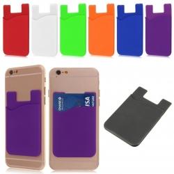 Zelfklevende pas houder voor op de achterkant van de smartphone of tablet