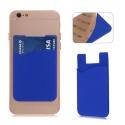 Blauwe pashouder voor op de achterkant van de smartphone of telefoon