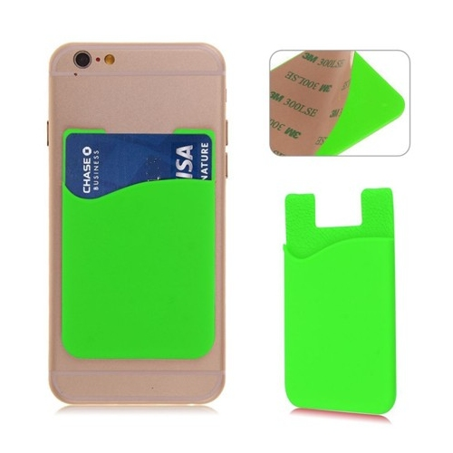 Groene pinpashouder voor op de achterkant van de smartphone