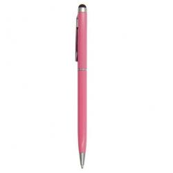 Roze stylus pen om het touchscreen scherm te bedienen maar waarmee ook echt geschreven kan worden met zwarte inkt