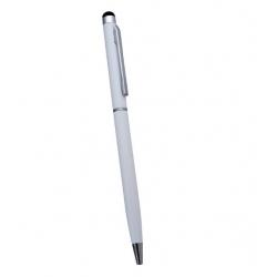 Witte stylus pen om het touchscreen scherm te bedienen maar waarmee ook echt geschreven kan worden met zwarte inkt